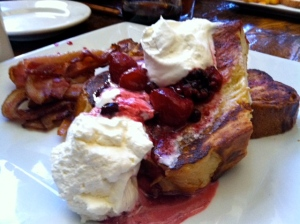 Challah bread French toast - yum!