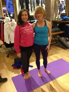 With Andrea from The Hot Yoga Spot