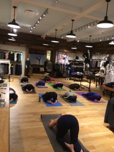 Photo taken from Athleta's Twitter feed.