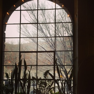 View from the Roebling Tea Room on the first evening of spring.