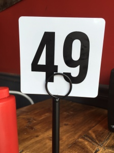 Our table number at Crave - perfect!
