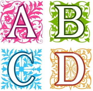 b-c-d-alphabet-letters-floral-elements-decorative-vintage-different-designs-square-format-behind-each-uppercase-33779316